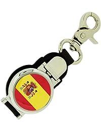 Boxx Porte-clés Gousset Homme au Motif Drapeau Espagnol avec Fermoir Magnétique
