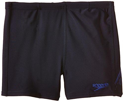 Speedo Jungen Badehose Sports Logo Panel Aquashorts, Navy/Blue, 128, 8-09530A500
