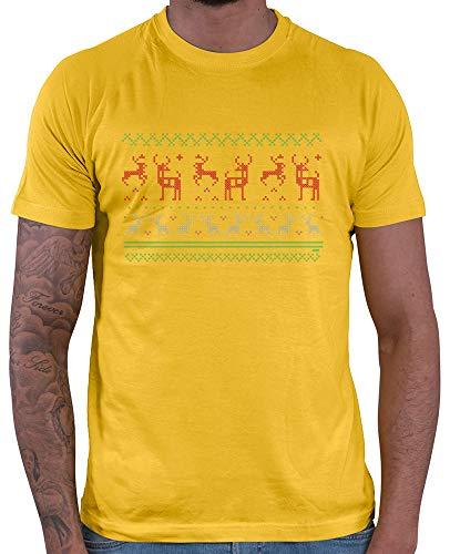 HARIZ  Herren T-Shirt Pixel Rentier Weihnachten Weihnachten -
