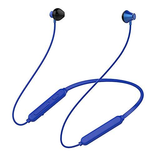 KCJMM Bluetooth-Headset, kabelloses Headset, Bluetooth 4.0 Leichtes Stereo-Headset, Sport-Headset und eingebautes Mikrofon, blau