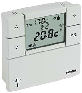 Perry 1txtetx04 termostato wireless da parete bianco for Perry termostato wifi