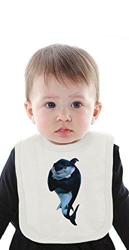 Shark Tale Organic Baby Bib With Ties Medium (Shark Lola Tale)
