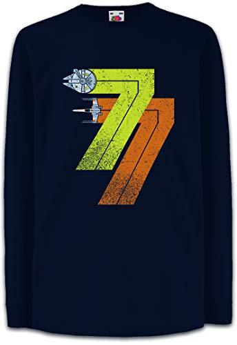 Urban Backwoods Vintage Rebel Born 77 Kinder Kids Mädchen Jungen Langarm T-Shirt Blau Größe 12 Jahre