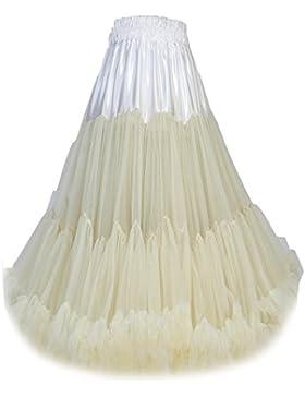 FOLOBE Tut¨² de las mujeres traje de ballet de baile de m¨²ltiples capas Puffy falda adulto lujoso suave enagua60cm...
