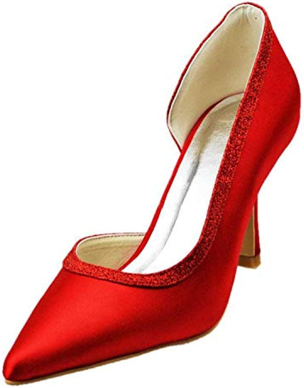 Willsego Scarpe da Sera da Donna, Donna, Donna, da Donna, a Punta, D-Orsay, da Sposa (Coloreee   rosso-9.5cm Heel, Dimensione  ...   modello di moda    Uomini/Donna Scarpa  4ef6a5