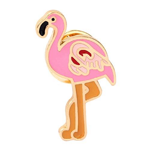Gdcat Legierung Cartoon Flamingos Form Brosche Dame Kinder Kleidung Dekorative Tropfen Öl Brosche für Geschenk Geburtstag Party Jahrestag Zubehör 1 Stücke
