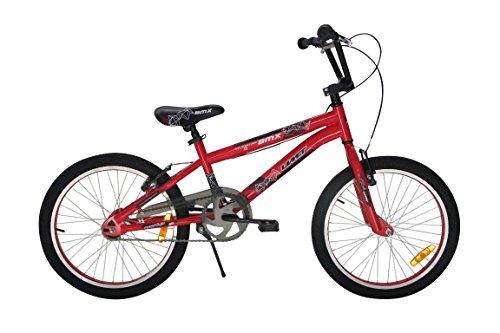 Vélo Garçon Umit BMX 20 Pouces Frein V-Brake et Rétropédalage 85% Assemblé Rouge