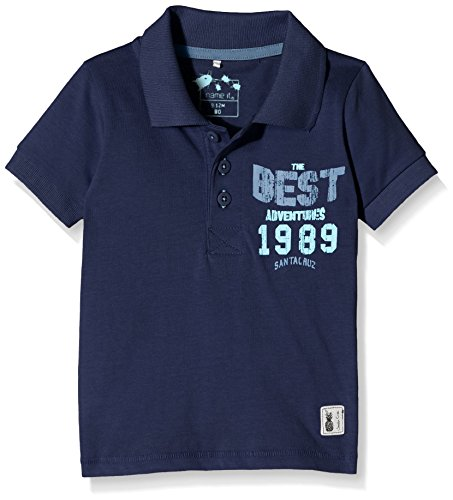 NAME IT Nitihamason M Ss 216, Polo Bambino, Blu (Dress Blues), 98