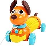 Puppy Pull Along Toys Jungen und Mädchen 1-2-3 Jahre alt Baby 6-12 Monate Musikinstrument Spielzeug schütteln Sound Drag Dog