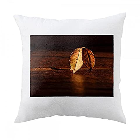 Pillow with Leaf, Autumn, Dawn, Golden Hour