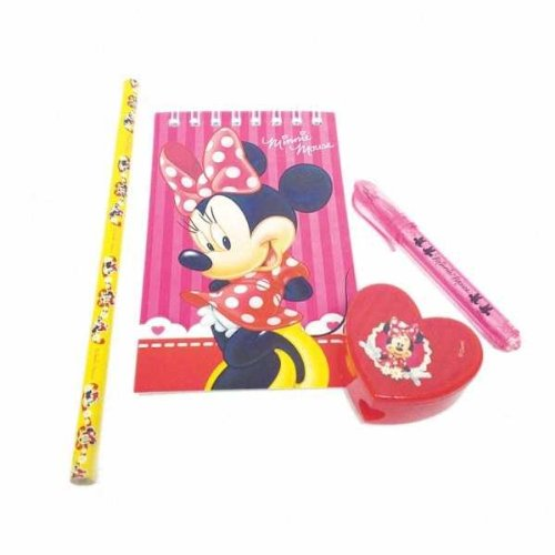 Amscan 20-Piece Minnie Stationery Pack Party Accessory, Red