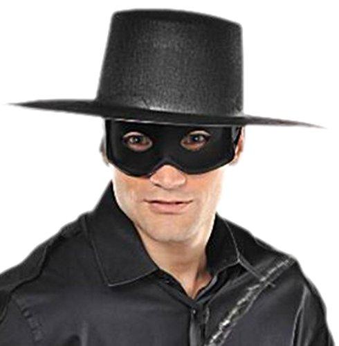Halloweenia - Herren Zorro, Bandit, Gangster Maske, Halloween, Karneval, ()