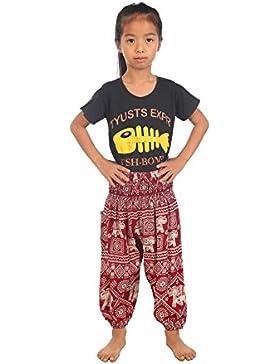 Lofbaz Bebé Pantalones Harem Cintura Alforzada Bohemio Aladdin pantalones