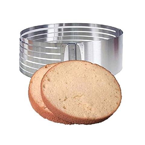 lzn Einstellbar Tortenring Tortenboden Schneidhilfe Tortenhebeblech patisserie 24-30cm