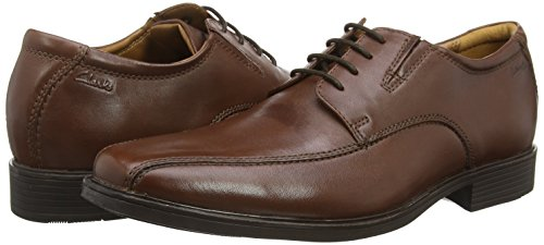 Clarks Tilden Walk, Derby homme Marron (Brown Leather)