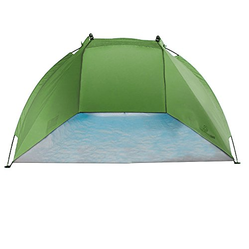 outdoorer Strandmuschel Helios, grün, UV 80, extrem leicht, Minipackmaß