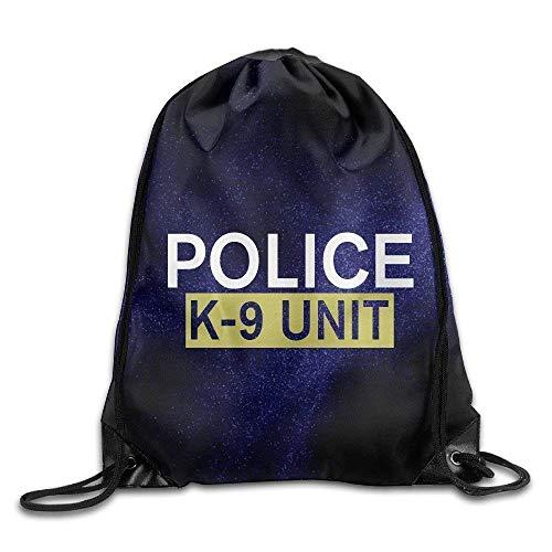 5793395562 DHNKW Gym Drawstring Bag Police K-9 Unit Backpack Bag