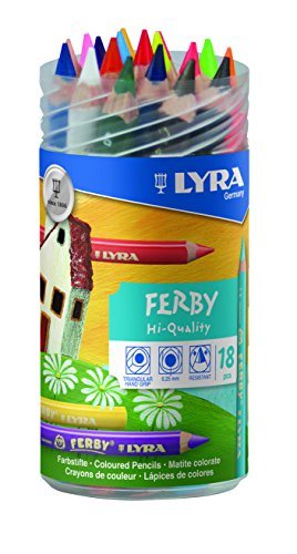 LYRA Ferby Verschließbare Runddose mit 18 Farbstiften, Sortiert