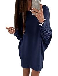8be2a0c7fc491 Vestito in Maglia Donna Sottile Vestitini Maglioni Maniche Lunghe Fuori  Spalla Pullover Jumper Cocktail Mini Abito