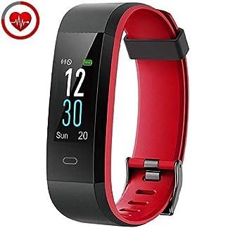 YAMAY Pulsera Inteligente, Pulsera Actividad Impermeable IP68 con Monitor de Calorías, Monitor de Ritmo Cardíaco
