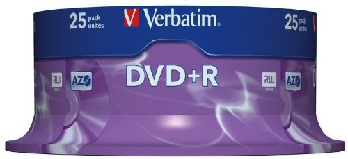 Verbatim 43500  DVD+R 16x 25-pack   Optical Media
