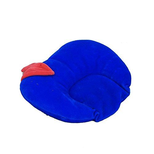 Kuber Industries™ Mustard Seeds (Rai) Pillow - Apple Shape (Velvet), Blue