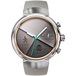 Asus ZenWatch 3 WI503Q-2RBGE0001 Reloj (Amoled, 400 x 400 Qualcomm Snapdragon Wear 2100, de 512 MB, 4 GB, Correa Deportiva Android Wear, Beige