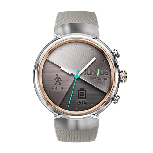 Asus Zenwatch 3 WI503Q-2RBGE0001 (3,5cm (1,39 Zoll), Amoled, 400 x 400 Qualcomm Snapdragon Wear 2100, 512MB, 4GB, Android Wear Sportarmband) beige
