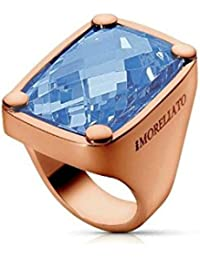 Morellato - S01J209 016 - Istanti - Bague Femme - PVD Rose - Rectangle - Zircon Bleu et 1 diamant