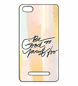 Happoz be good motivational quote Xiaomi Mi4c pouch Mobile Phone Back Panel Printed Fancy Pouches Accessories Z607
