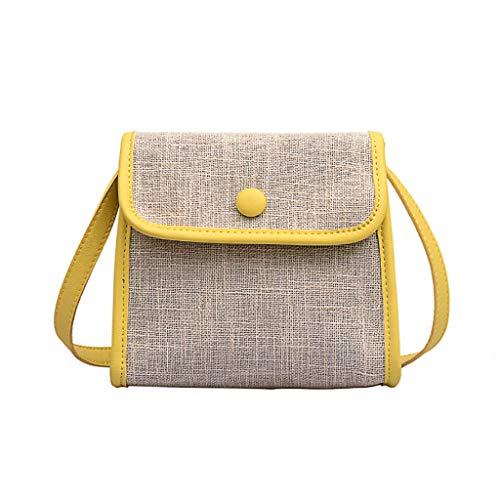 LSCOFFEE Damen Wild Messenger Bag Fashion Einschulter, klein, quadratisch, mehrere Taschen, Bienen-Serie, Handtasche für Damen, PU, gelb, Einheitsgröße