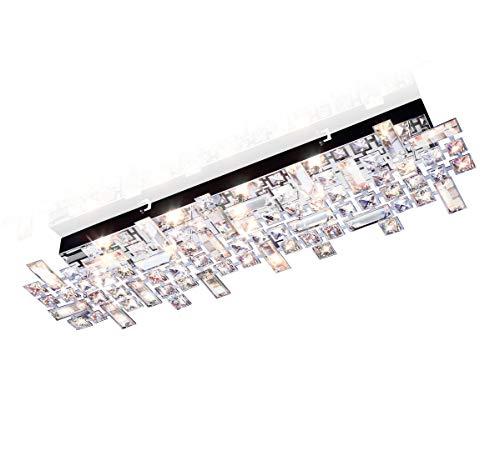 LED Deckenleuchte Kristall Design Led Deckenlampe Wand Wohnzimmer Leuchte Torgent Wandleuchte Badleuchte 69x21cm 5x G9 Fassung inkl. Led Leuchtmittel -