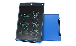 NEWYES NYWT120 LCD Tablette d'Ecriture avec Stylet, 12 Pouces de Longueur, Couleurs Variées(Bleu)