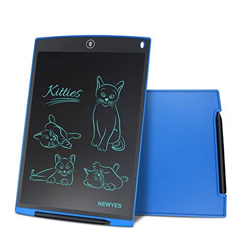 NEWYES 12 Pulgadas Tableta Gráfica, Tableta de Escritura LCD, Portátil para Hogar, Escuela, Oficina, Incluye 1 lápiz, 2 imanes para Nevera,1 Año de Garantía (Azul)