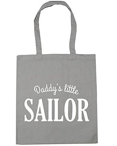 hippowarehouse Daddy's Little Sailor Sac à shopping/Sac de plage 42cm x38cm, 10litres - gris - Taille unique