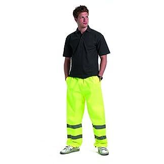 Uneek clothing Hi-Vis Pantalones de Trabajo Pantalones de Trabajo de Alta Visibilidad de Seguridad de Tobilleras con Peso Ajustable
