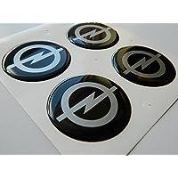 OPEL Juego de 4 emblemas autoadhesivos de emblema de plástico de 50 mm para solicitar cubiertas