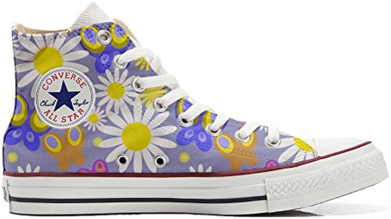 Converse all Star Hi Canvas, Scarpe Personalizzate (Scarpe Artigianali) Camomil Texture | Materiali selezionati  | Maschio/Ragazze Scarpa