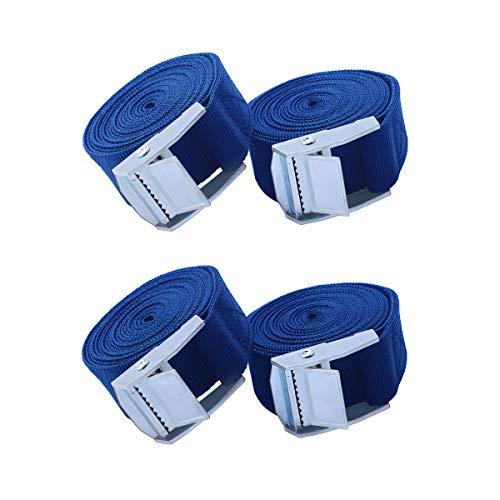 AIEVE Correas de amarre de trinquete de 6,5 pies,cinturones tensores de alta resistencia Correa con hebilla de leva de liberación rápida para camiones,Supakak,correas para equipaje de automóviles