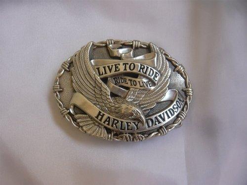 Harley Davidson Cinturón Hebilla Buckle Cinturón Belt Cinturón Shield Águila Calavera Motocicleta