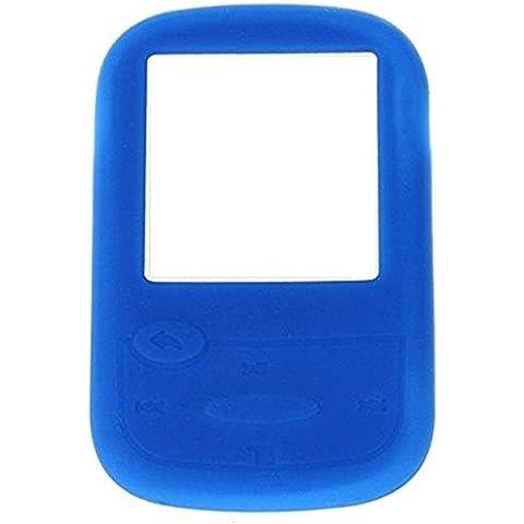 Carcasa de silicona funda para SanDisk Sansa Clip Sport reproductor de mp3–azul
