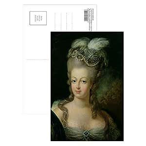 Art247 - Portrait of Marie-Antoinette de.. - Carte postale (paquet de 8) - 15,2 x 10,2 cm - Qualité supérieure - Dimensions standards