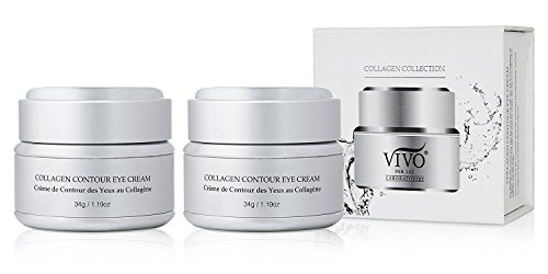 2 Pack : Vivo Per Lei Collagen Eye Cream for Puffiness, Dark Circles and Wrinkles, 34 g/ 1.19 oz. (Pack of 2)