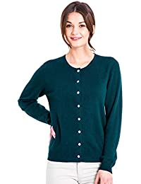 82e604bb2aad Woolovers Ladies Cashmere Blend Crew Neck Cardigan