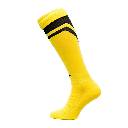 Fussballstutzen Modell S Fussball Strümpfe Stutzen 100% Atmungsaktiv viele Farben, gelbschwarz, 31-35