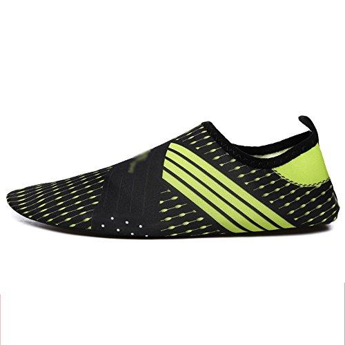 NAN Wasserschuhe Männer Wasserski Schuhe Barfuß Schuhe Wasser Schuhe Surf Schuhe Strand / Schwimmen / Surfen / Yoga Sportschuhe ( Farbe : 2 , größe : EU36/UK3.5/CN35 )