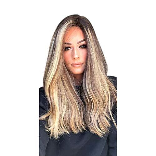 Perruque femme naturelle, feiXIANG naturel Couleurs mélangées sexy style de cheveux pour femme fête des Perruques Synthétiques complète des Perruques
