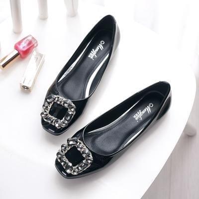 &qq Appartement avec des femmes de louche, chaussures à bout plat plat, chaussures de mode 36