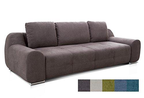 CAVADORE Big Sofa Benderes/Schlafsofa mit Bettfunktion und Bettkasten/Moderne Couch mit Steppung und...