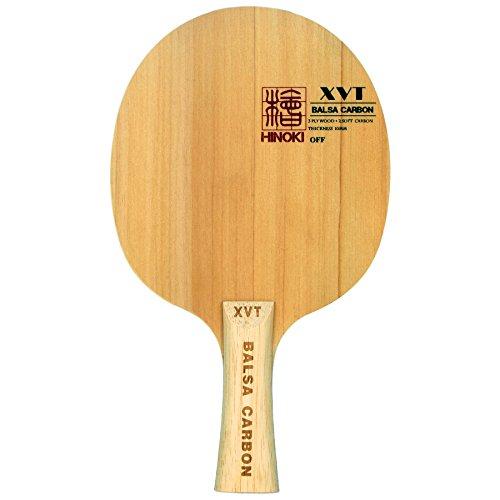XVT Tischtennisholz H-1 BALSA+HINOKI+CARBON superleicht 60 Gramm (konkav)